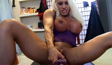 Blonde Fitness Goddess gets her muscular body fucked by machine from wonderful katie morgan