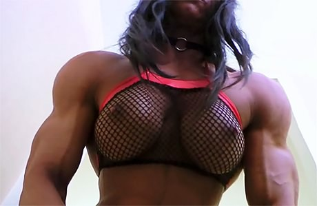 Beautiful Muscular Goddess flexing after heavy gym workout from wonderful katie morgan