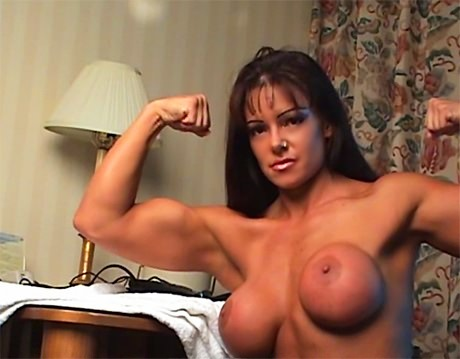 Busty Fitness Goddess Tara Caballero posing and flexing from wonderful katie morgan