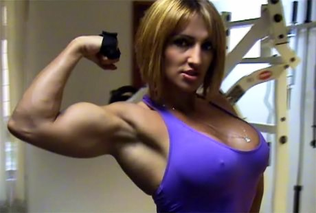 Busty Fitness babe with strong muscles GYM workout from wonderful katie morgan