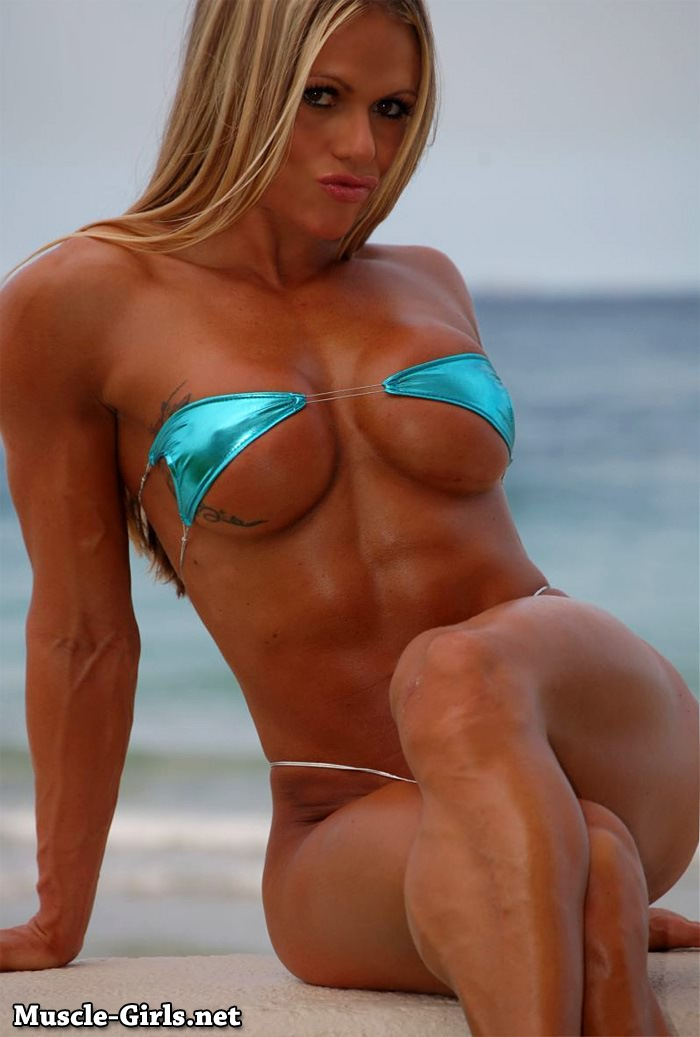 Blonde Fitness Goddess perfect gifted muscular body