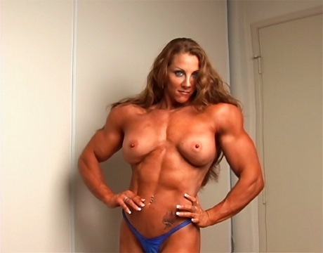 Sexy Female Bodybuilder flexing her ripped muscles from wonderful katie morgan