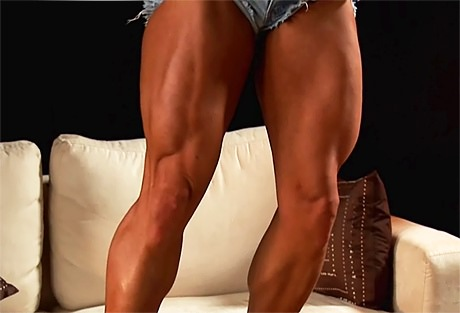 Sexy muscular Goddess flexing her strong legs from wonderful katie morgan