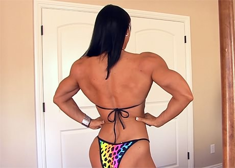 Female Bodybuilder Jennifer Scarpetta posing sexy in bikini from wonderful katie morgan